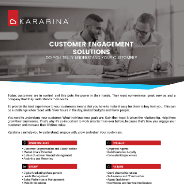 Customer Engagement Brochure