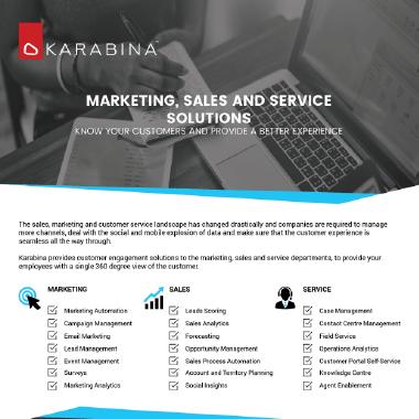 Sales, Marketing, Service Solutions Brochure